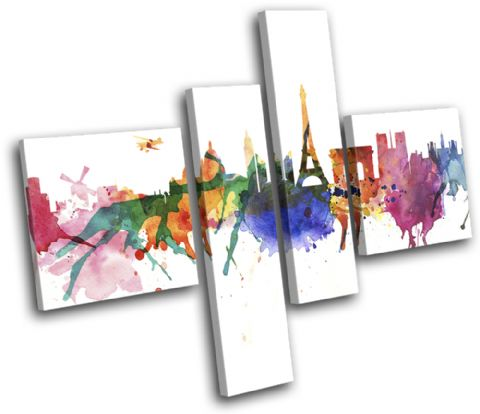 Paris Watercolour Abstract City - 13-6003(00B)-MP20-LO